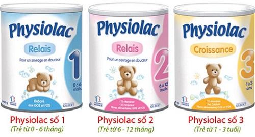 sữa physiolac sữa ngoại ưa chuộng nhất
