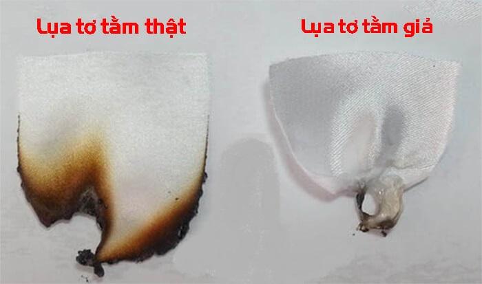 cách nhận biết lụa tơ tắm